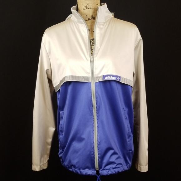 adidas Jackets & Blazers - Vintage Adidas windbreaker zip 2 tone vents H212
